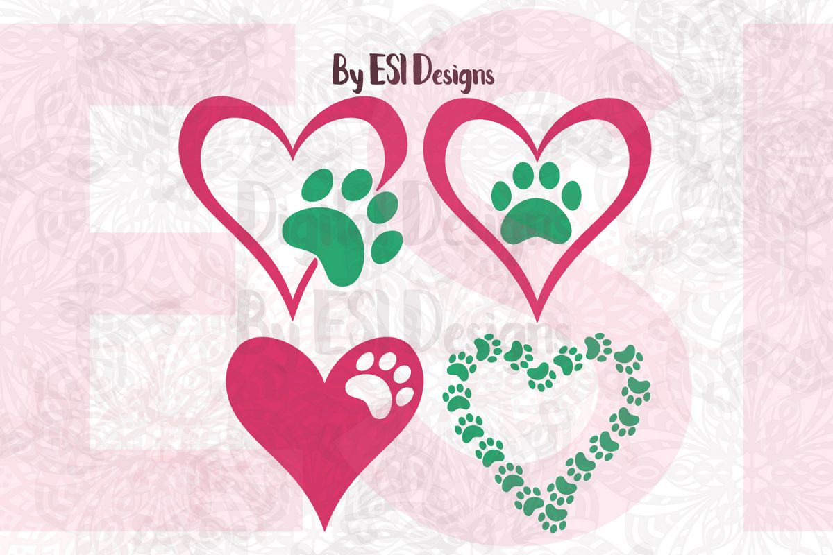 Paw Print Heart Designs example image 1