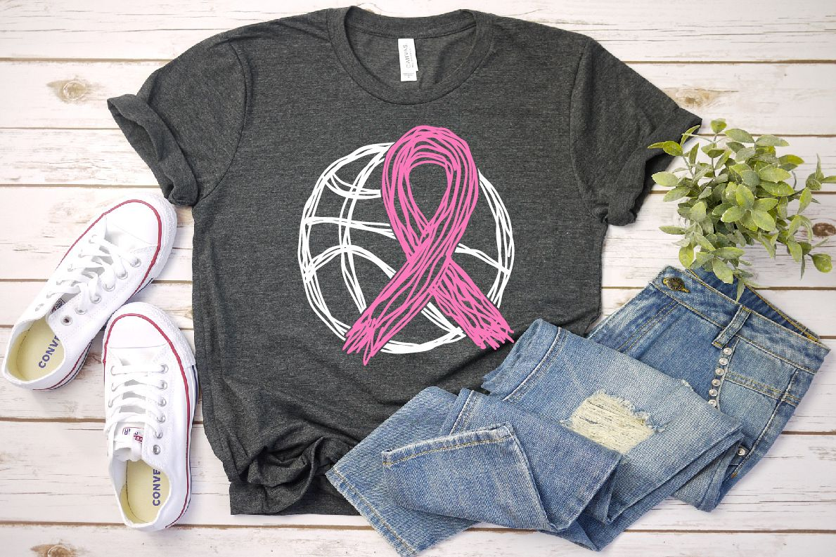 Go fight Cure Breast Cancer Cheer basketball 1565s example image 1