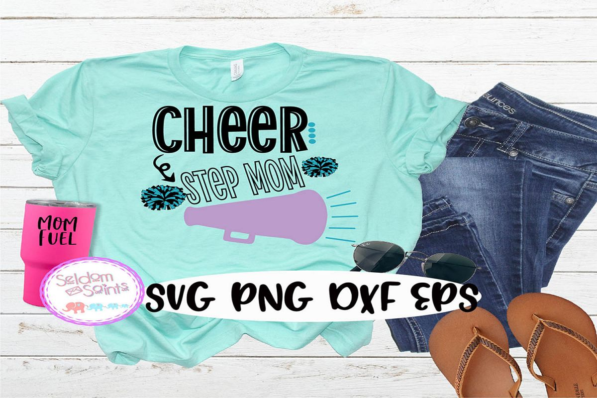 Cheer Step Mom SVG PNG DXF EPS example image 1