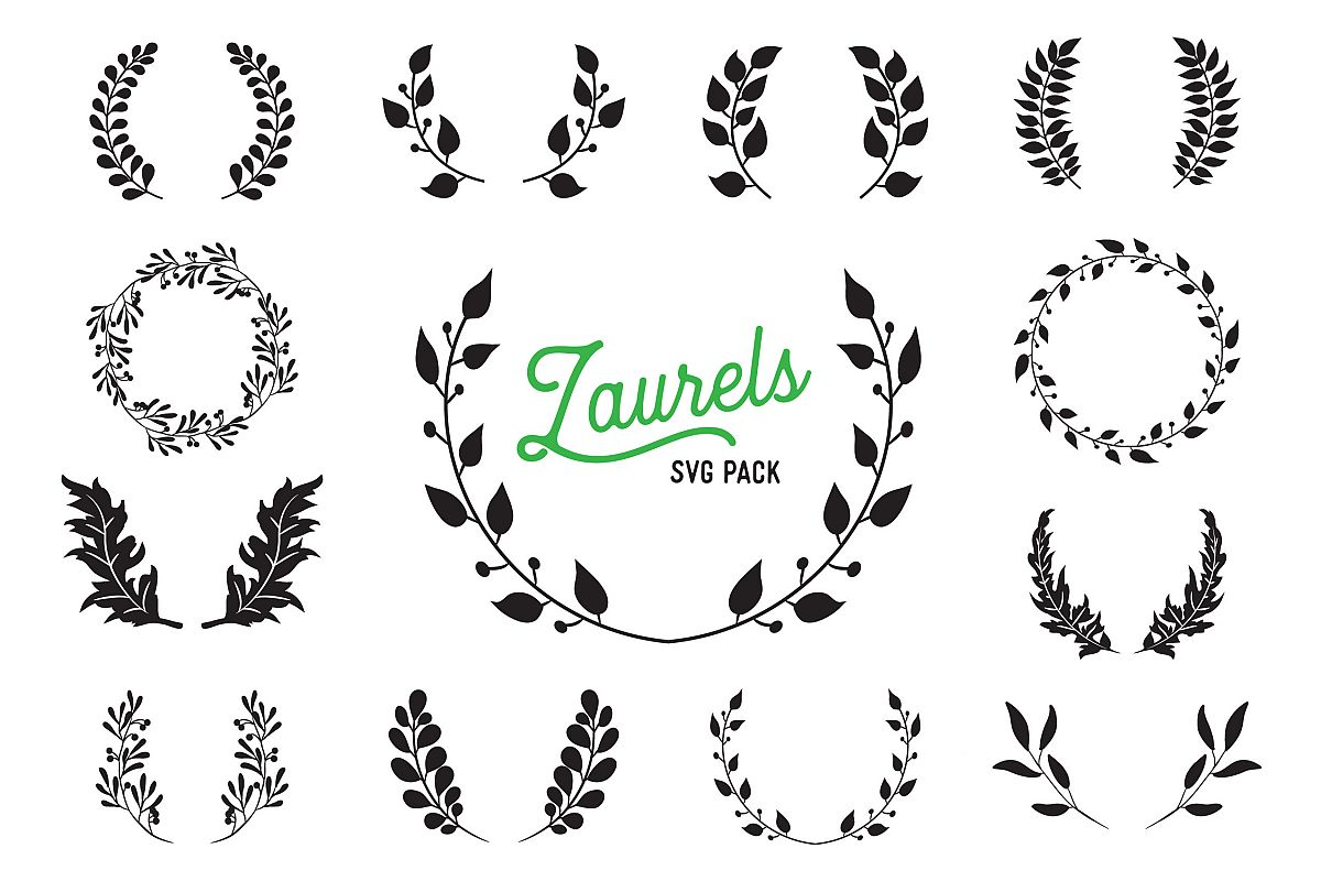Laurel SVG Vector Design Bundle - Vector Cut Files