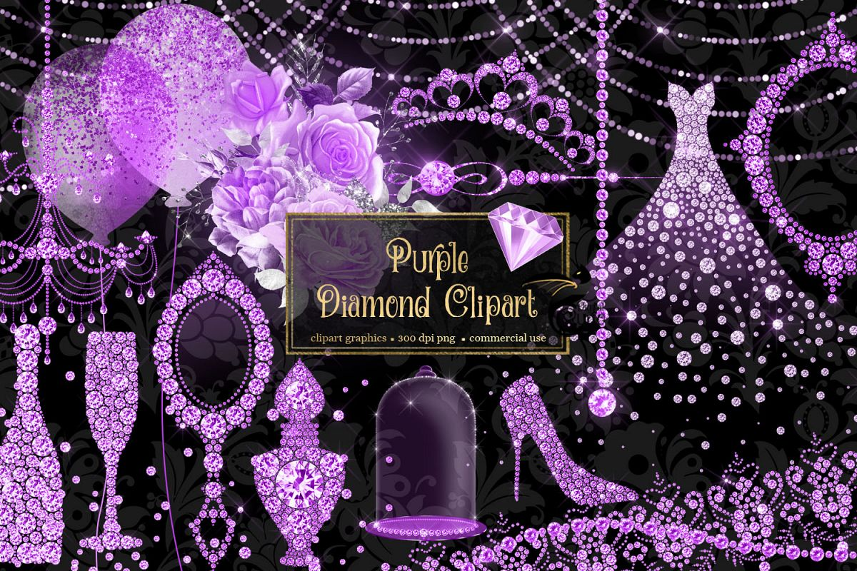Purple Diamond Clipart example image 1