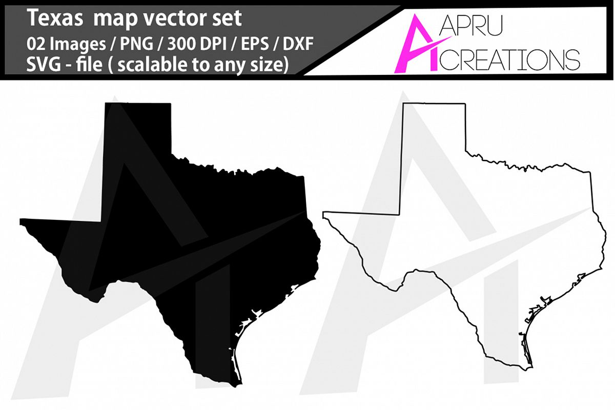 texas svg/ texas silhouette / texas outline map example image 1