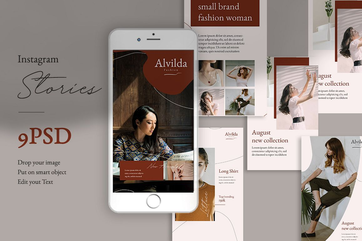 Alvida Instagram Stories Templates example image 1