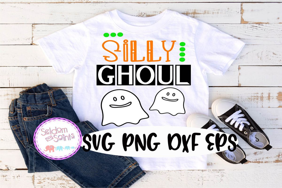 Silly Ghoul SVG PNG DXF EPS example image 1