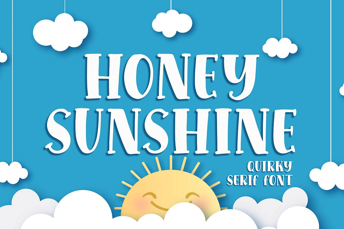 Honey Sunshine - a Quirky Serif Font example image 1