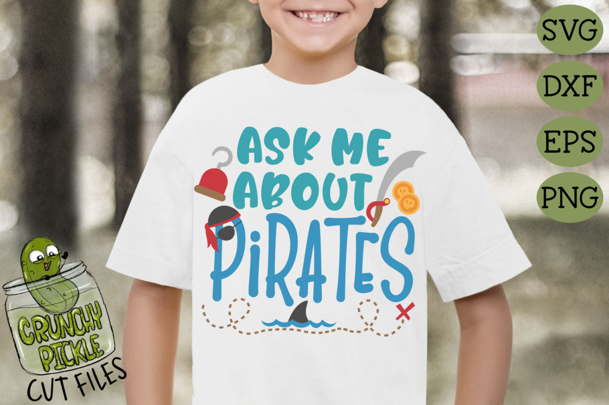 Ask Me About Pirates SVG example image 1