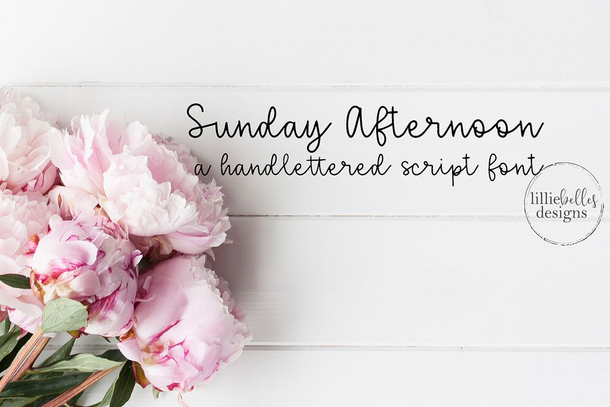 Sunday Afternoon Font example image 1