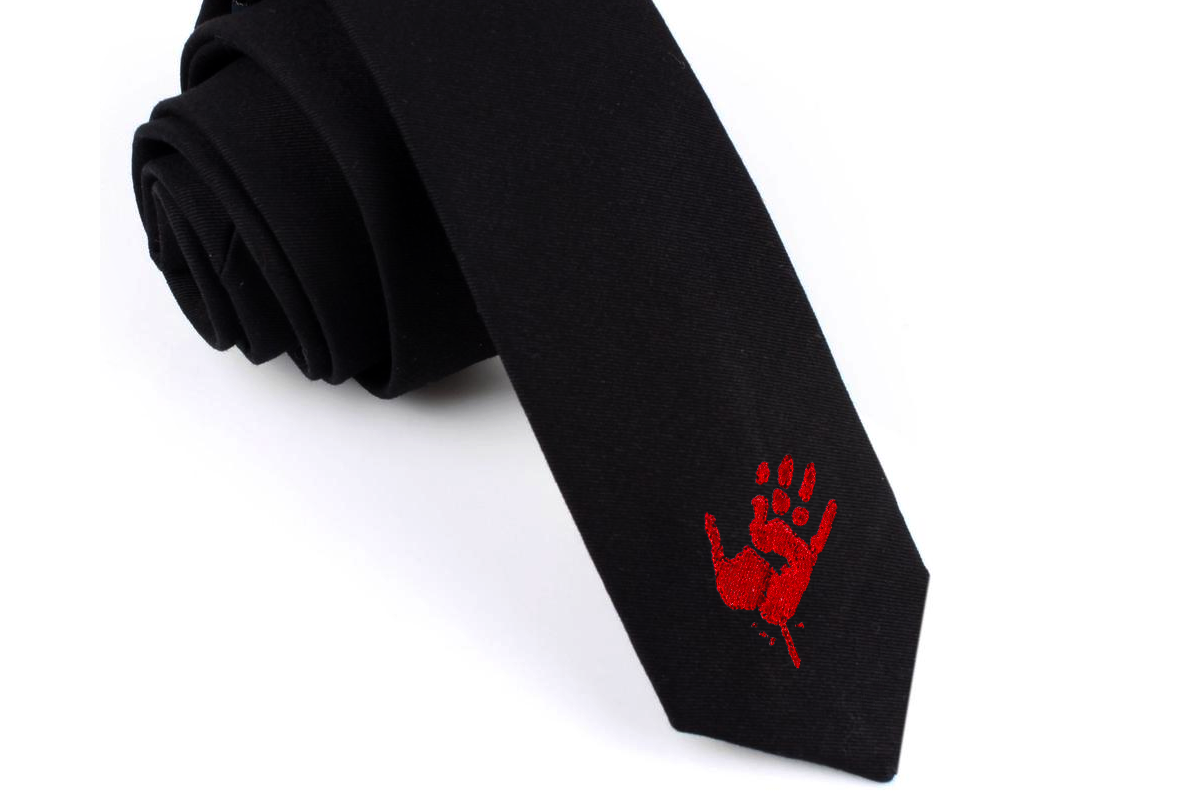 Mini Bloody Zombie Handprint Embroidery Design File example image 1
