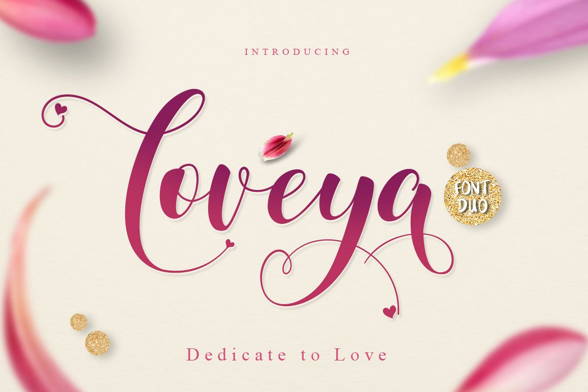 Loveya Script (Font Duo + Extras) example image 1
