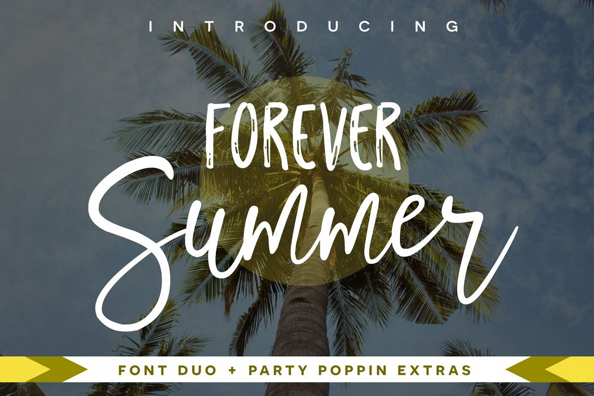 Forever Summer Font Duo + Extras example image 1