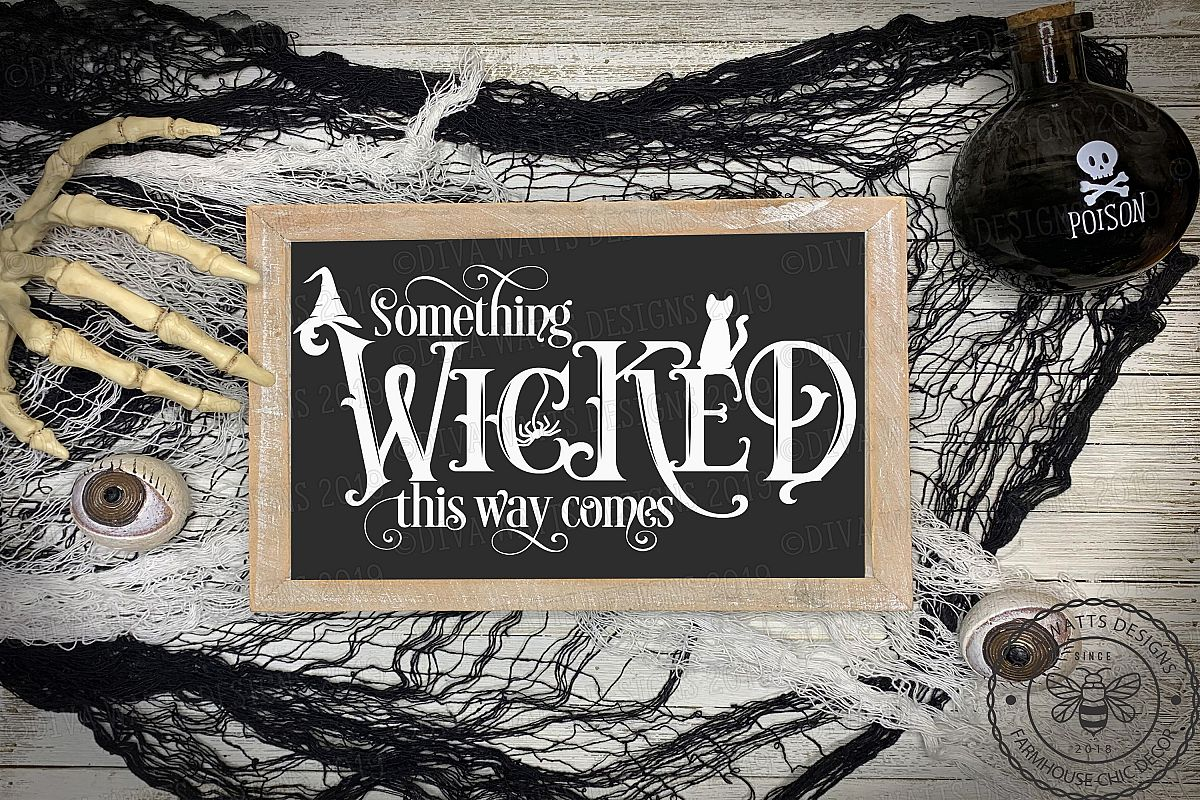 Something Wicked This Way Comes Cutting File for Halloween example image 1