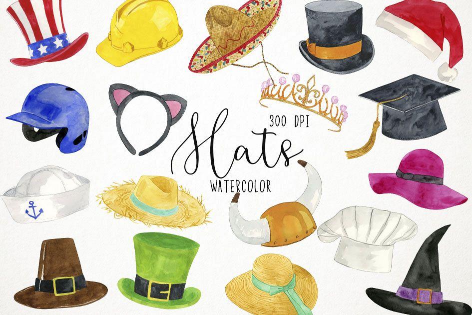 Hats Clipart, Hats Clip Art, Costumes Clipart, Caps Clipart example image 1