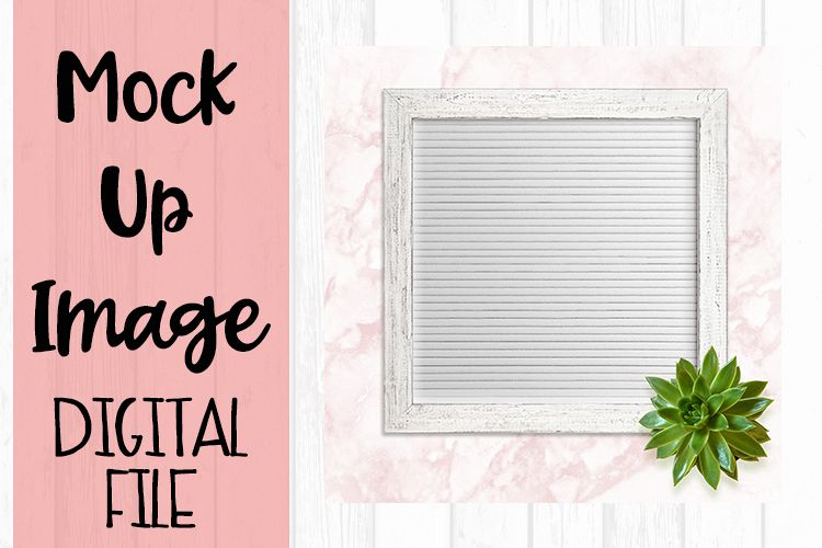 Chic WhiteLetter Board Crafters Mock Up example image 1