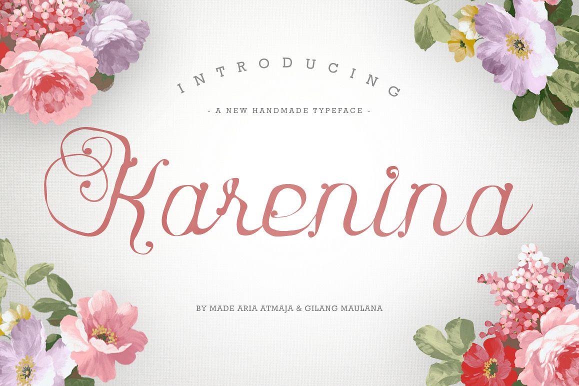 Karenina Script Font + Cute Vectors example image 1