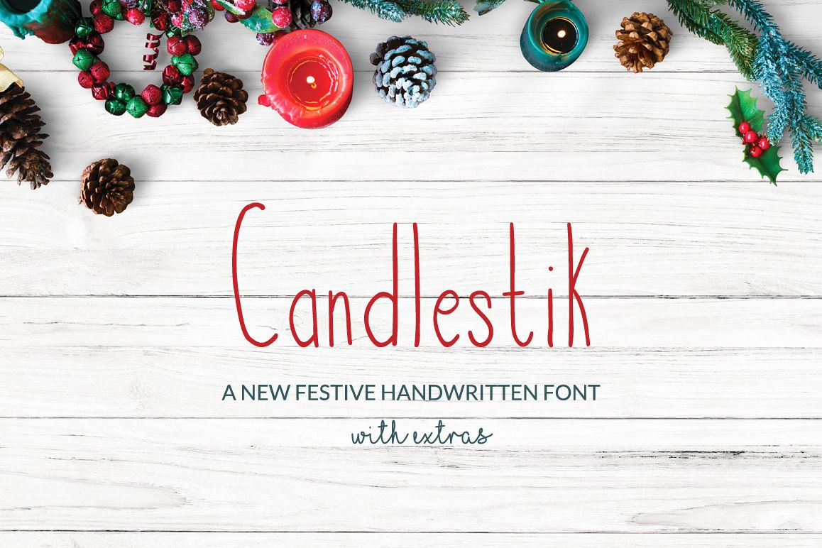 Candlestik Christmas Font & Extras example image 1