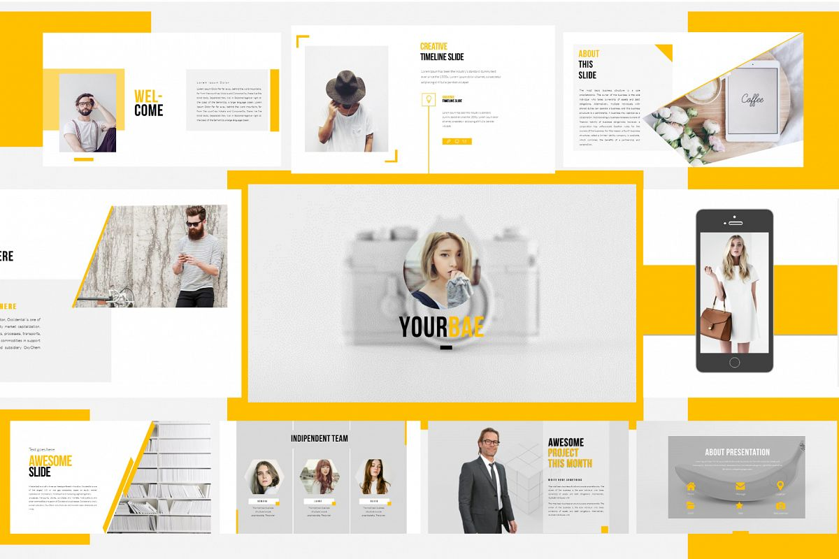 Yourbae Powerpoint Template example image 1
