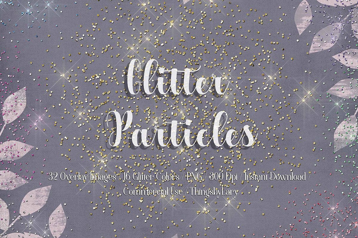 32 Glitter Particles Overlay Images Glitter Dust Confetti example image 1