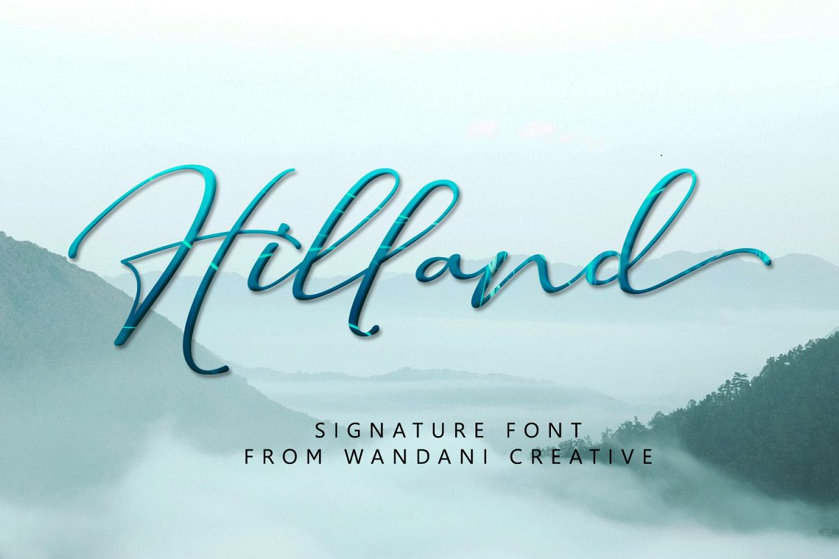Hilland | Signature Font example image 1