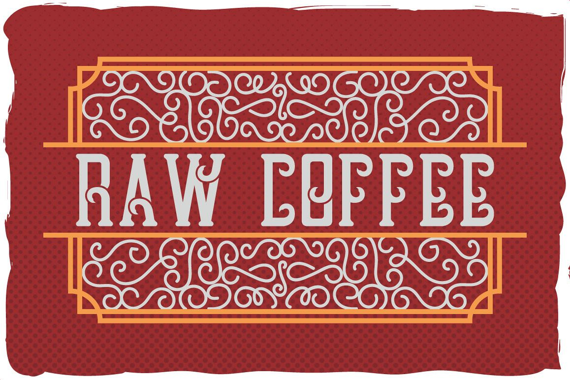 Raw Coffee handcrafted font example image 1