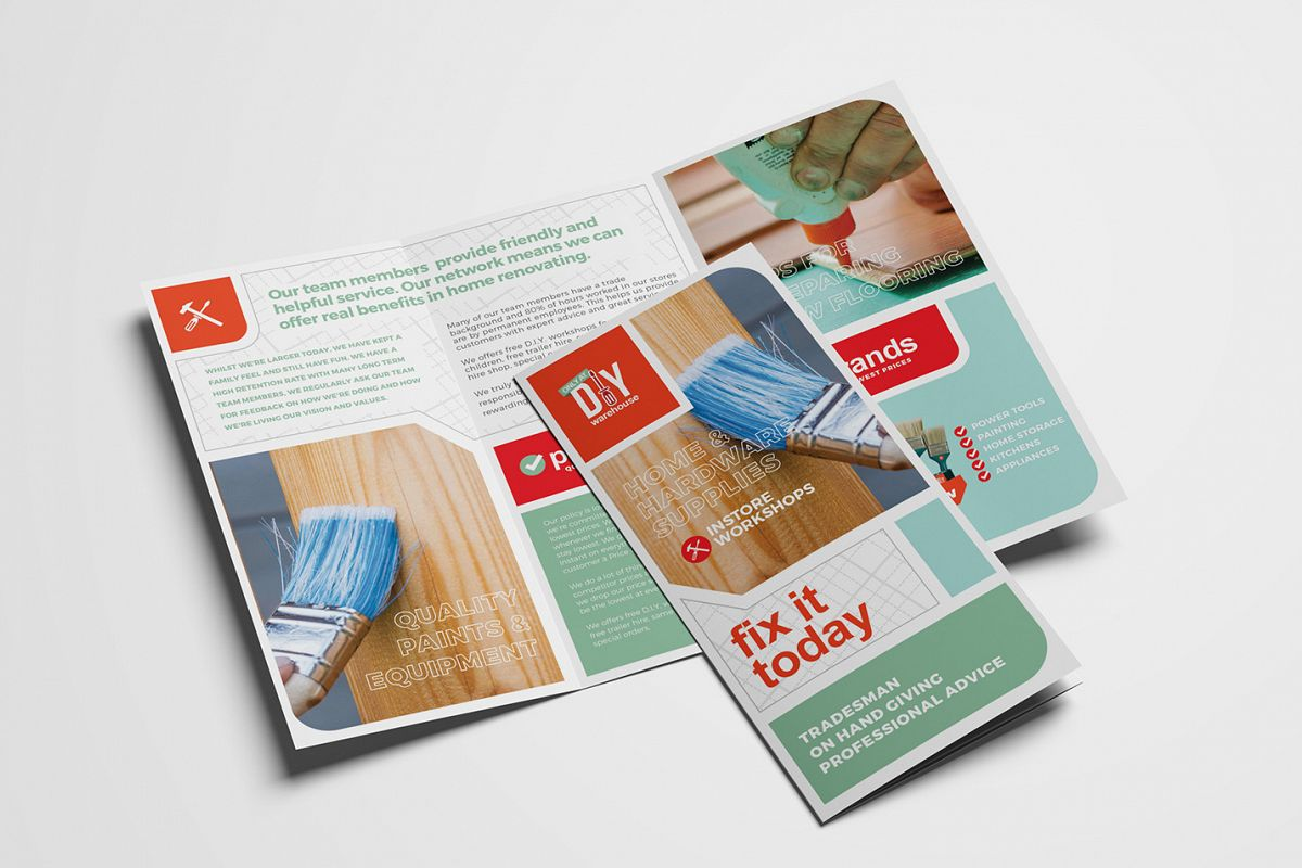 DIY Tool Supply Tri-Fold Brochure Template example image 1