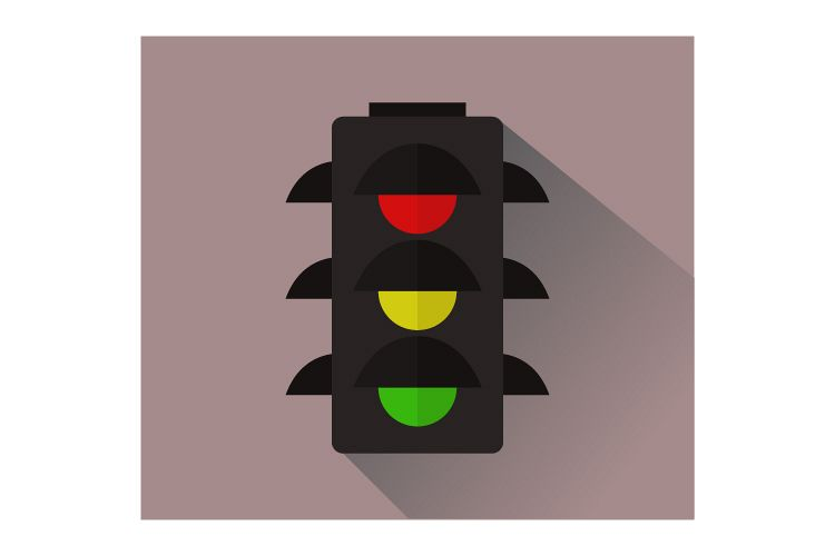 Traffic light icon example image 1