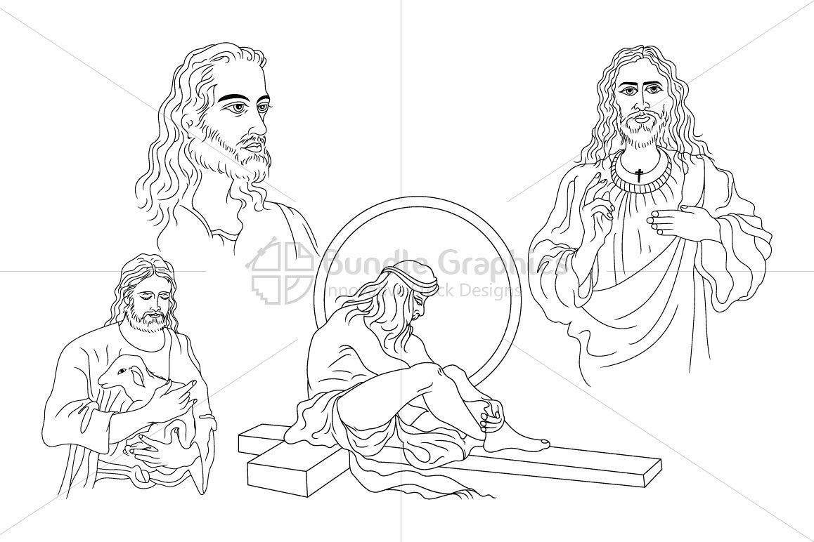 Jesus Christ - Illustrations example image 1