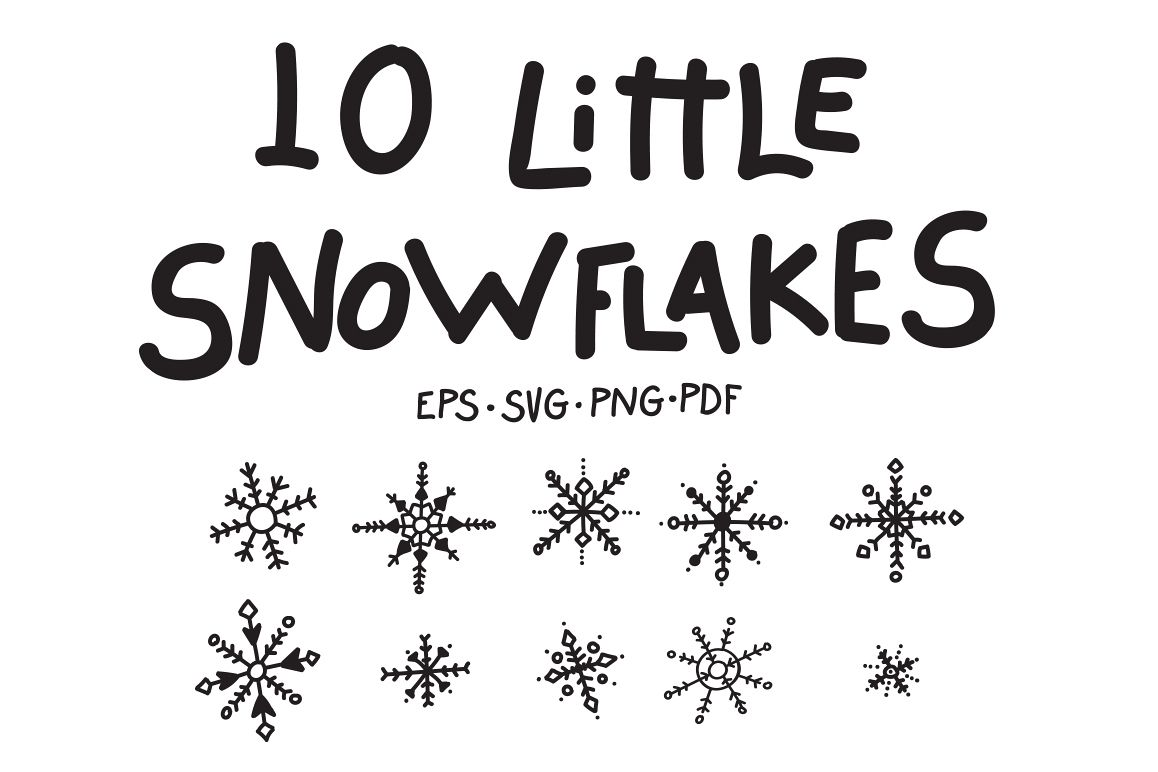 10 Little Snowflakes example image 1