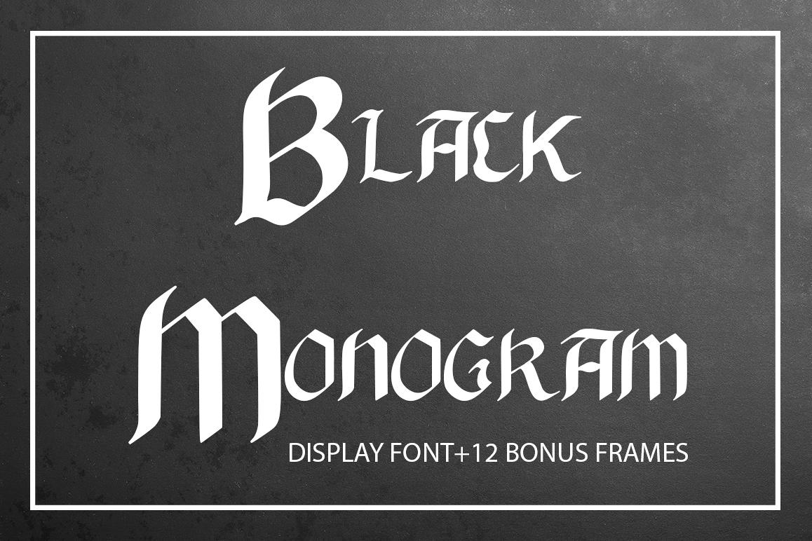 Black Monogram Creator example image 1