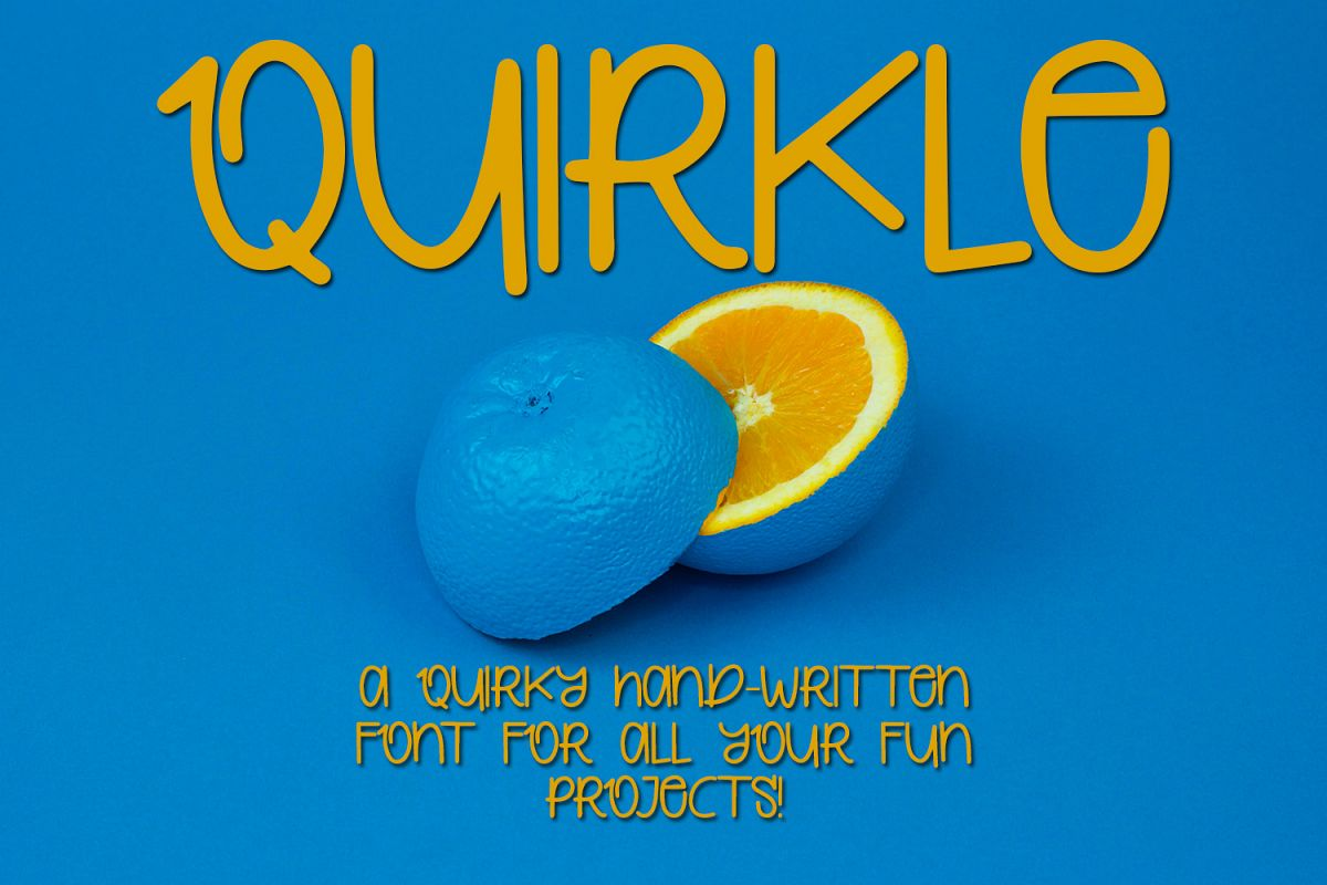 Quirkle - A Hand-Written Quirky Font example image 1