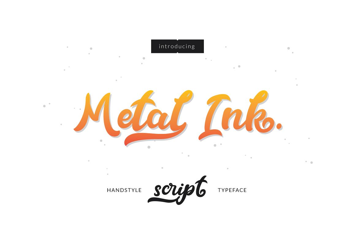 Metal Ink Typeface example image 1