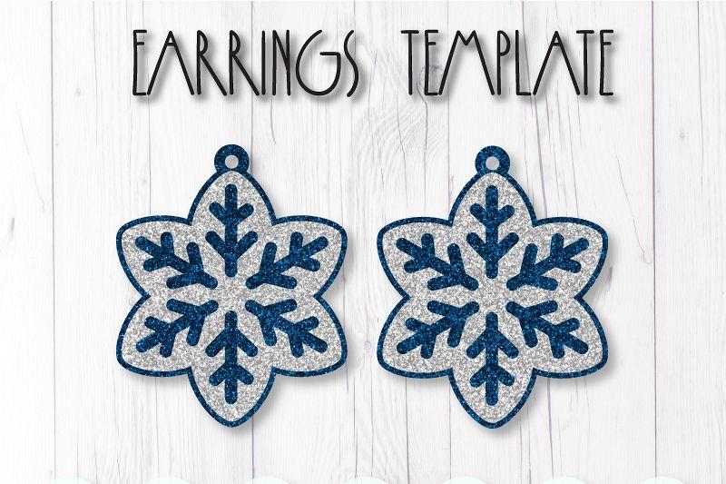 Earrings template SVG, DIY earrings template example image 1