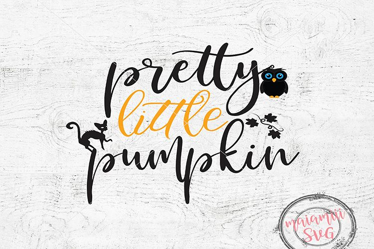 Pretty Little Pumpkin, Halloween Pumpkin SVG, Fall SVG example image 1
