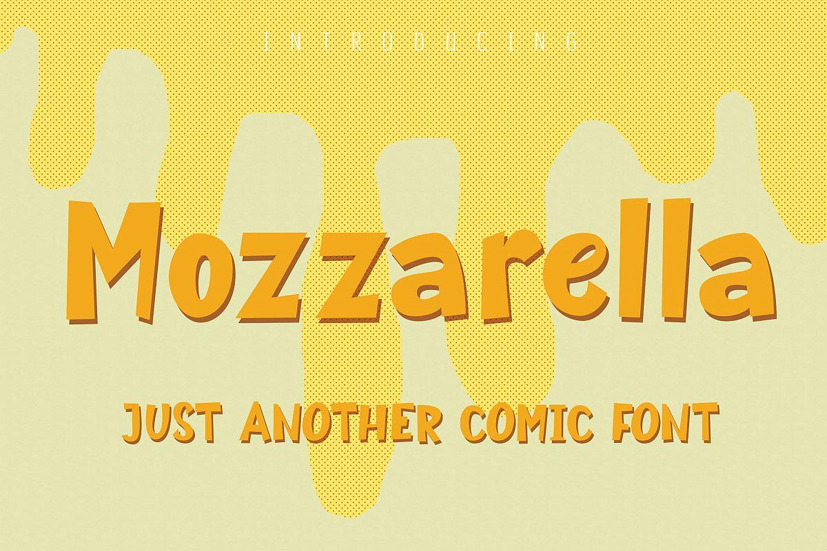 Mozzarella Comic Font example image 1