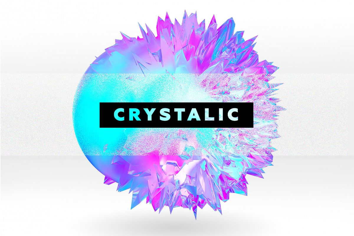 Crystalic - abstract shapes example image 1
