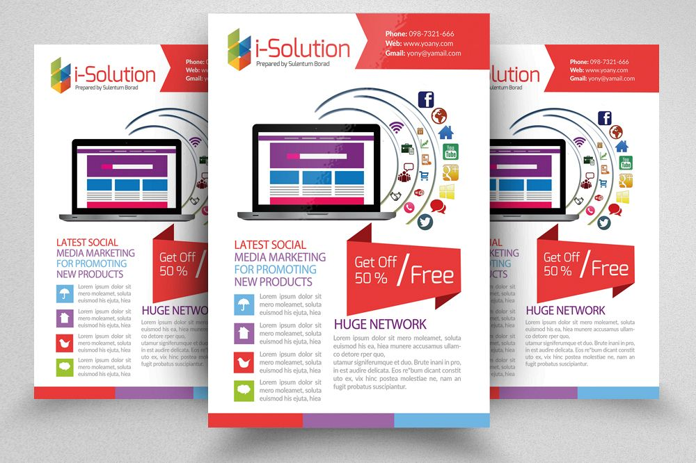 Social Media Flyer Template (350743) Flyers Design Bundles