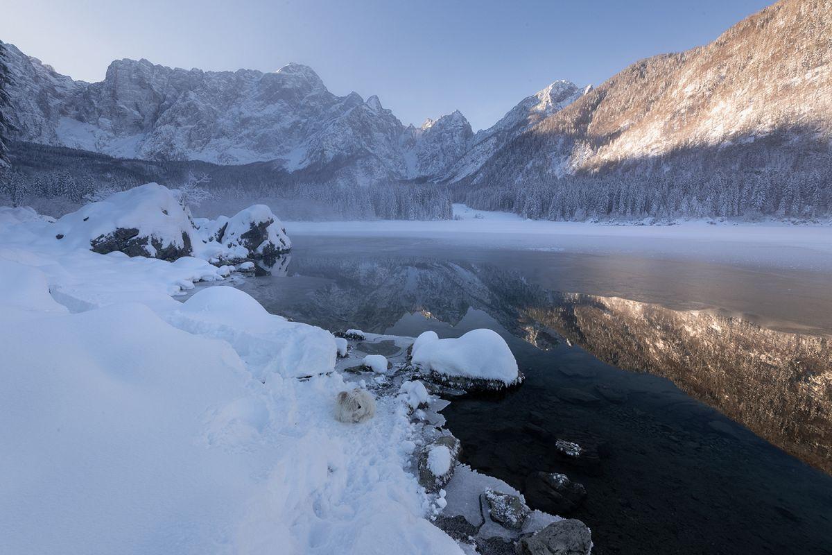 Winter at Fusine lake example image 1
