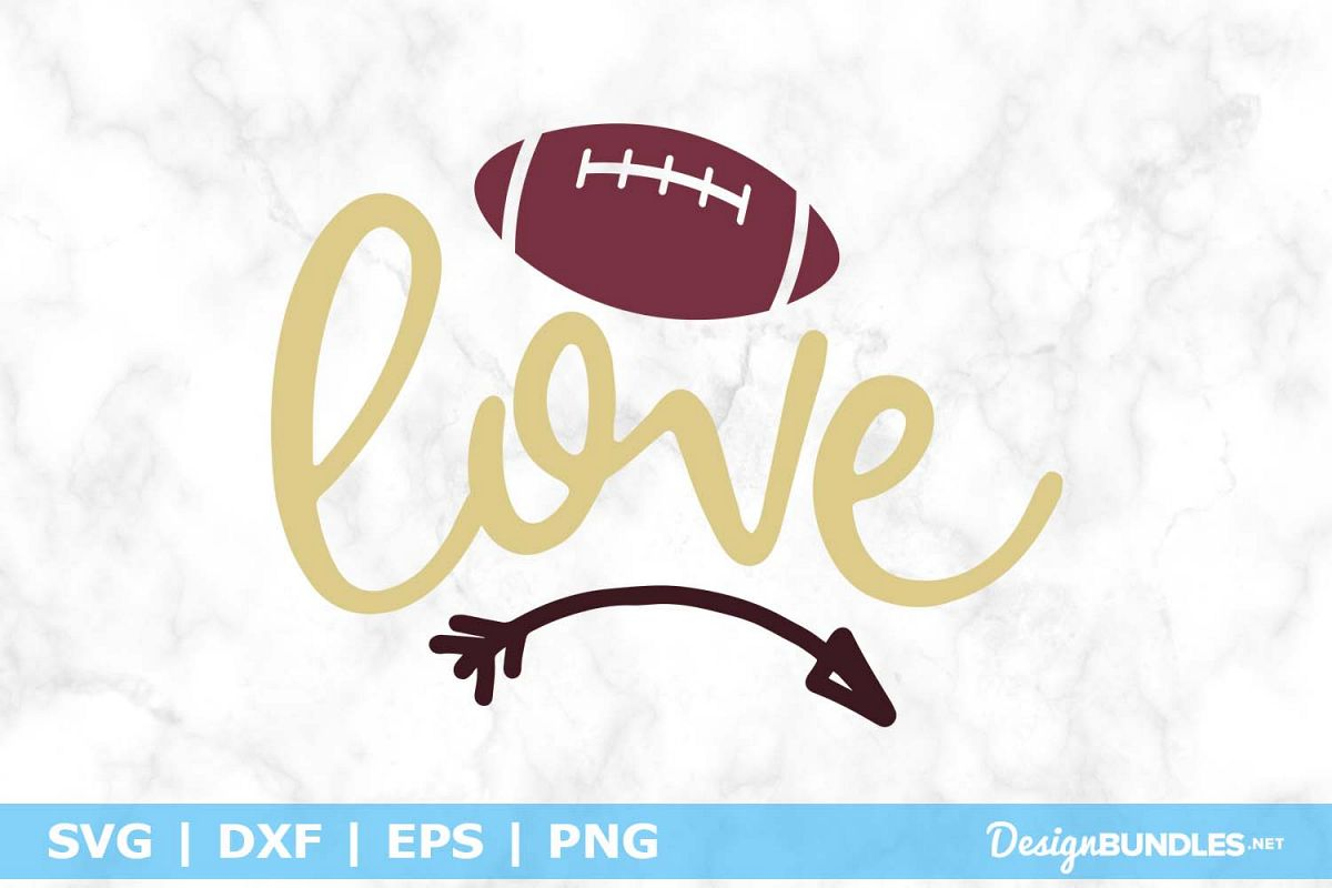 Football Love SVG File example image 1