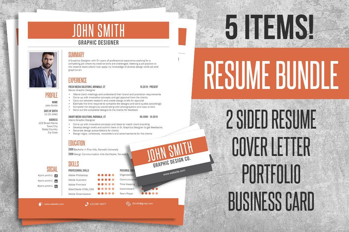 Resume CV Bundle Pack example image 1