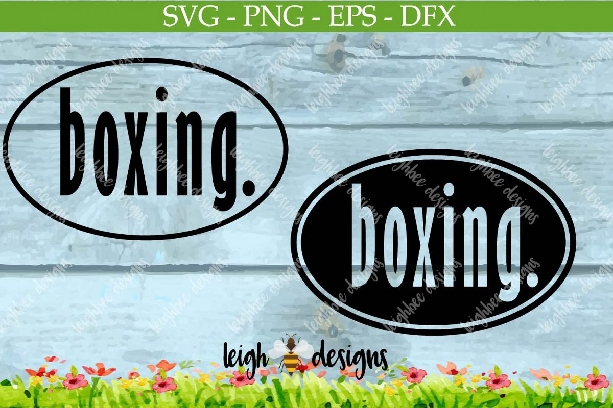Boxing Oval SVG/DFX/PNG/EPS File  example image 1