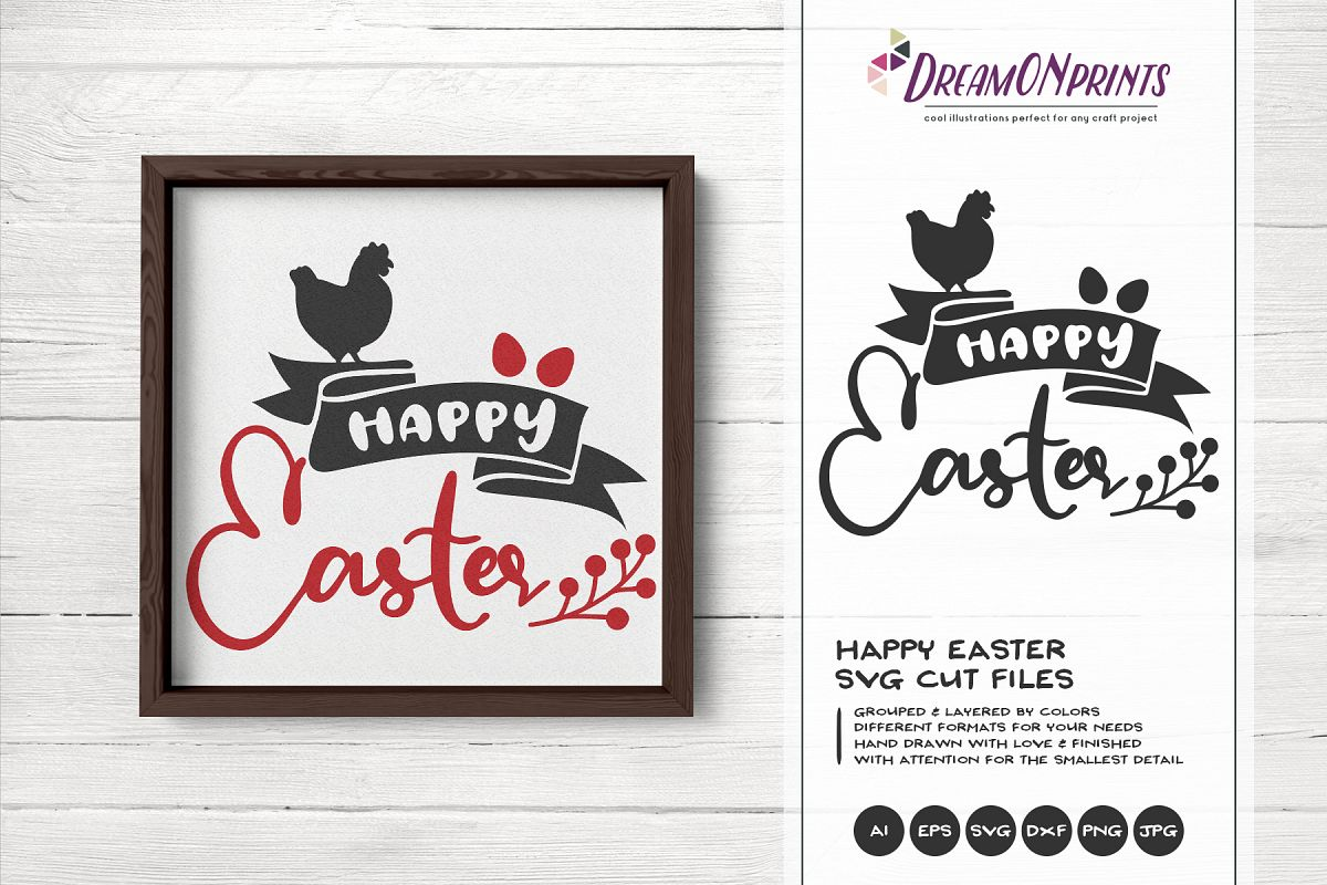 Happy Easter SVG - Farm Easter SVG example image 1