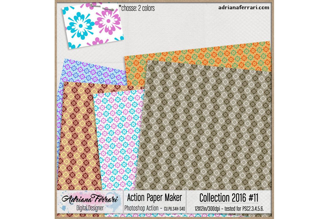 Action Paper Maker - Collection 2016 #11 example image 1