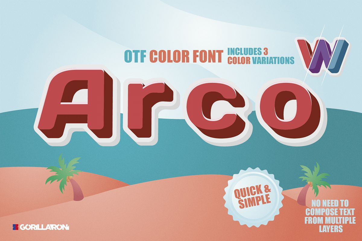 SVG color font - Arco example image 1
