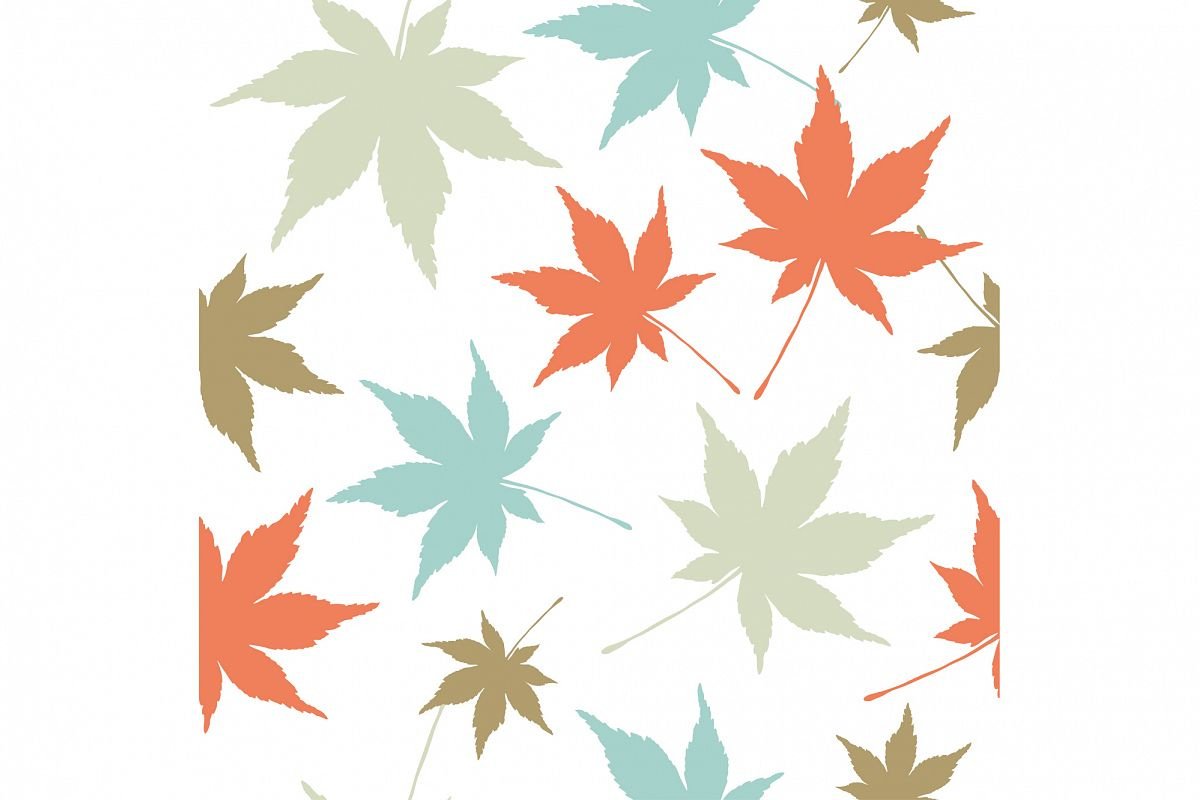 Seamless vector background with decorative leaves. Print. Cloth design, wallpaper. example image 1