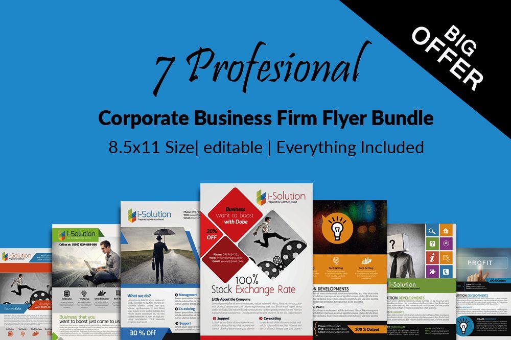 7 Corporate Business Flyers Bundle example image 1