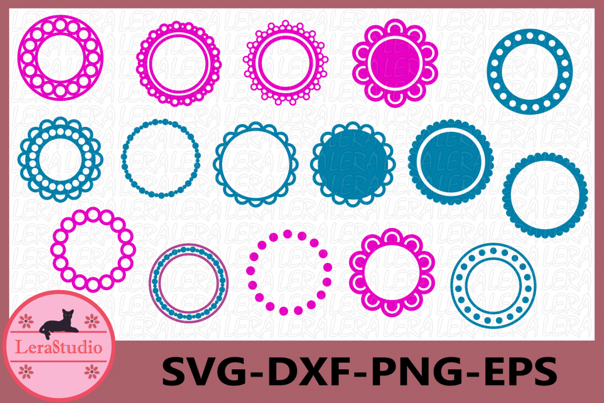 Circle Monogram Frames SVG, Circle Monogram svg, Frame svg example image 1