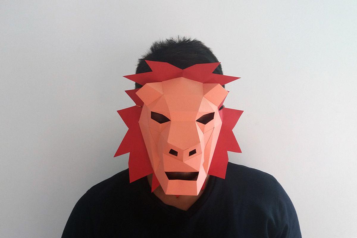 DIY Lion Mask - 3d papercrafts example image 1
