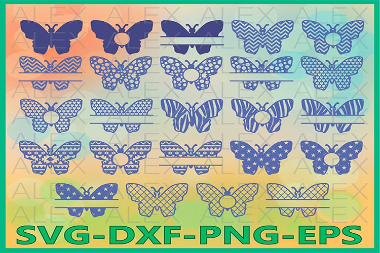 Butterfly Svg, Butterfly Monogram, Monogram Butterfly Cut example image 1