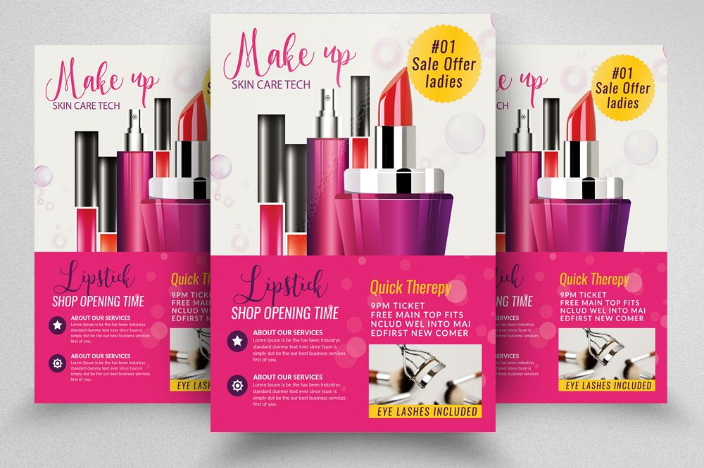 Cosmetic & Skin Care Flyer Template