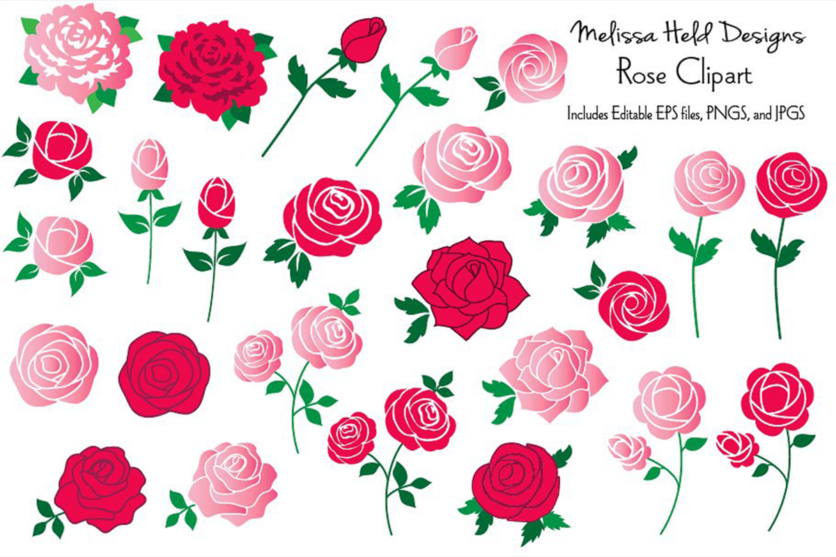 Rose Clipart example image 1
