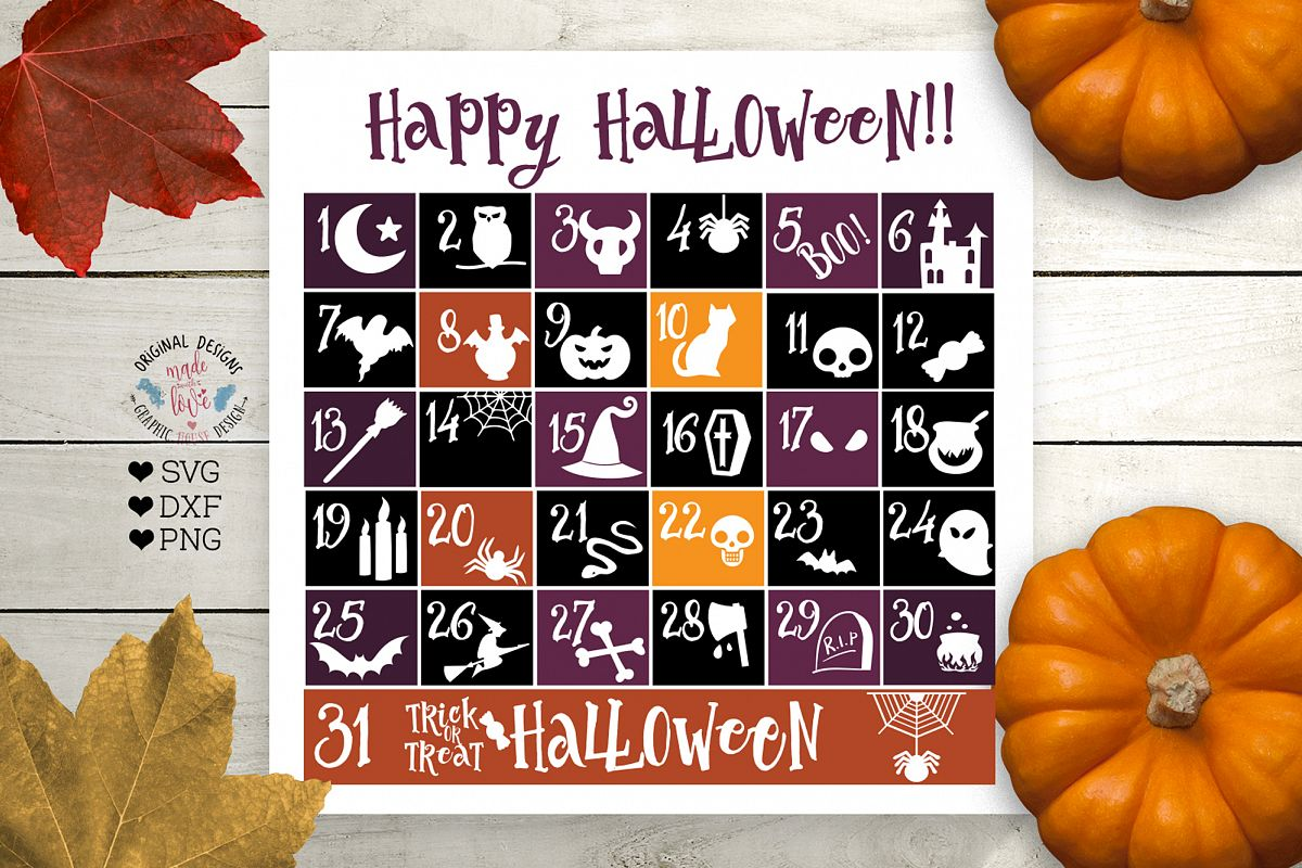 Happy Halloween Calendar example image 1